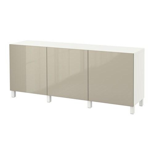 best aufbewahrung mit t ren wei selsviken hochglanz beige ikea. Black Bedroom Furniture Sets. Home Design Ideas
