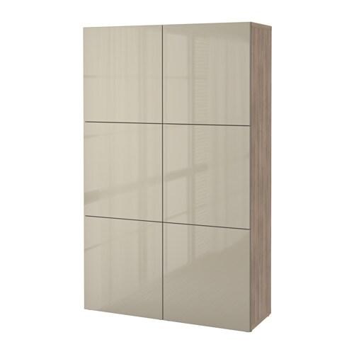 Ikea Türen bestå aufbewahrung mit türen grau las nussbaumnachb selsviken