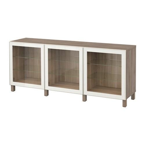 best aufbewahrung mit t ren grau las nussbaumnachb glassvik klarglas wei ikea. Black Bedroom Furniture Sets. Home Design Ideas