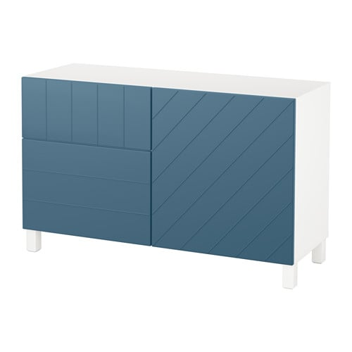best aufbewkomb t ren schubladen wei hallstavik dunkelblau schubladenschiene sanft. Black Bedroom Furniture Sets. Home Design Ideas