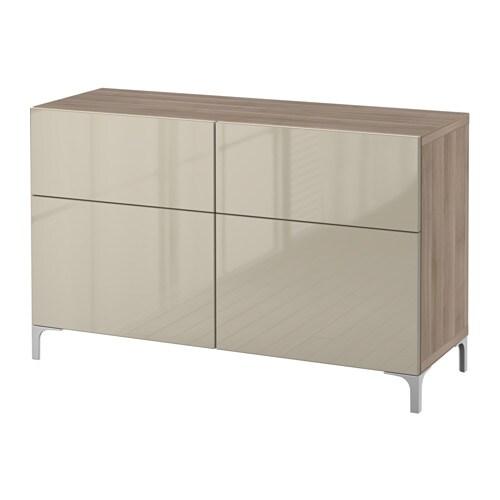 best aufbewkomb t ren schubladen grau las nussbaumnachb selsviken hochglanz beige. Black Bedroom Furniture Sets. Home Design Ideas