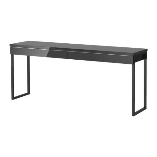 Ikea Bestå Burs Schreibtisch Hochglanz Schwarz 2179 Günstiger