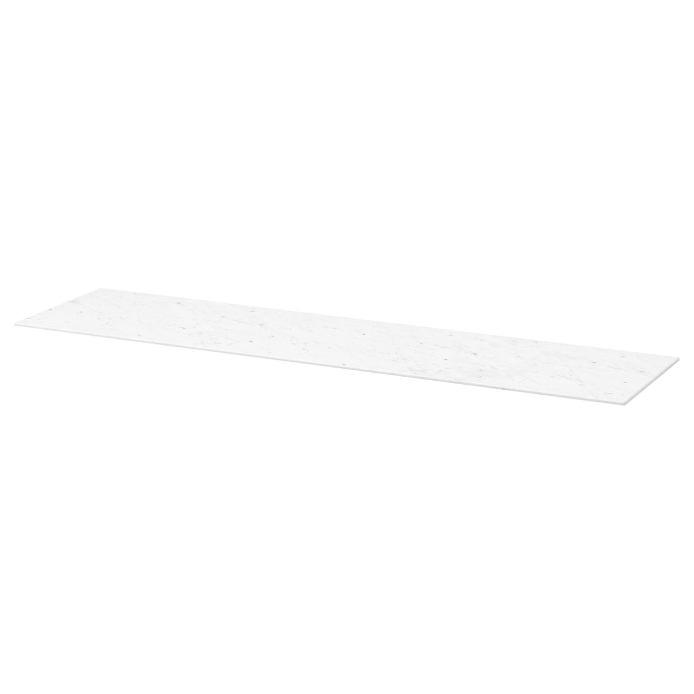 BESTÅ, Deckplatte, weiß marmoriert, weiß 003.638.78