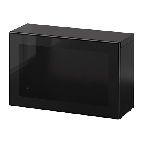 best regal mit glast r schwarzbraun glassvik schwarz klarglas ikea. Black Bedroom Furniture Sets. Home Design Ideas
