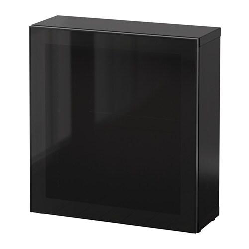 best regal mit glast r schwarzbraun glassvik schwarz rauchglas ikea. Black Bedroom Furniture Sets. Home Design Ideas