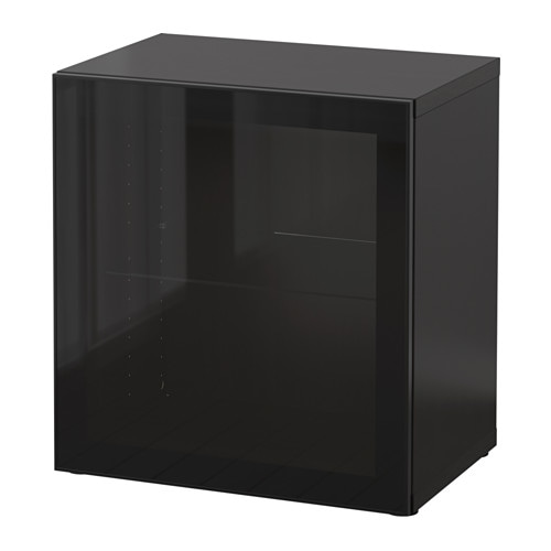 best regal mit glast r schwarzbraun glassvik schwarz. Black Bedroom Furniture Sets. Home Design Ideas