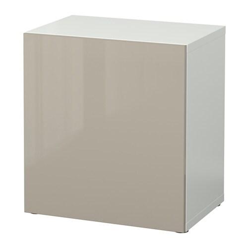 Ikea Besta Türen bestå regal mit tür weiß selsviken hochglanz beige ikea