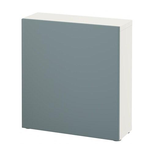 Ikea Besta Türen bestå regal mit tür weiß valviken grautürkis ikea