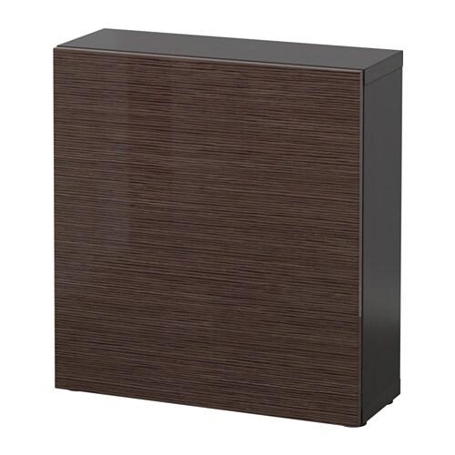 best regal mit t r schwarzbraun selsviken hochglanz braun ikea. Black Bedroom Furniture Sets. Home Design Ideas