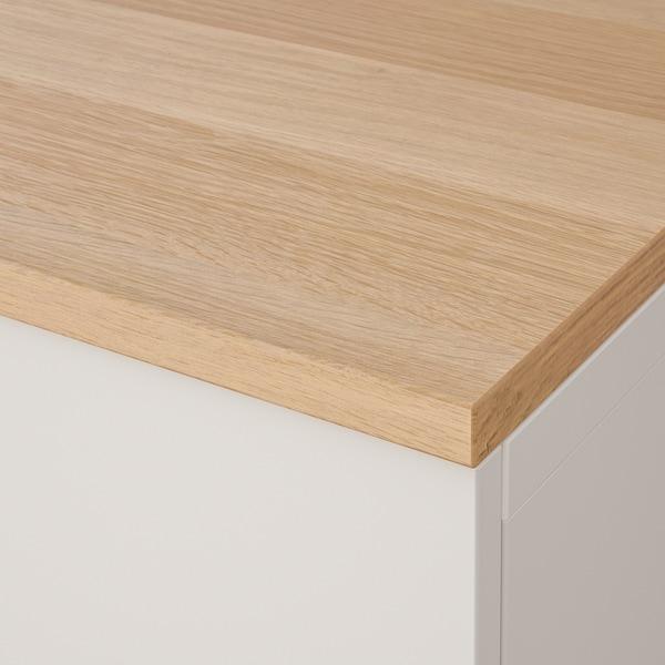 BESTÅ Schrankkombination für Wandmontage, weiß Lappviken/Eichenfurnier, 180x22x66 cm