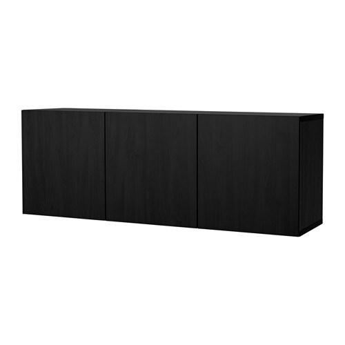 best schrankkombination f r wandmontage schwarzbraun lappviken schwarzbraun ikea. Black Bedroom Furniture Sets. Home Design Ideas