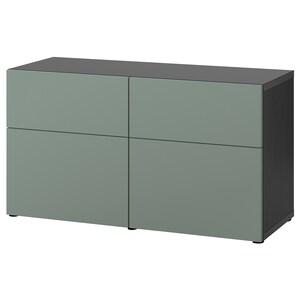Farbe: Schwarzbraun/notviken graugrün.