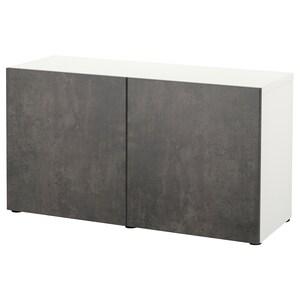 Farbe: Weiß kallviken/dunkelgrau betonmuster.