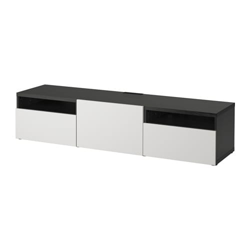best tv bank schwarzbraun lappviken hellgrau. Black Bedroom Furniture Sets. Home Design Ideas