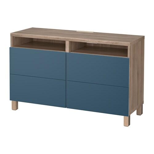 best tv bank mit schubladen grau las nussbaumnachb. Black Bedroom Furniture Sets. Home Design Ideas