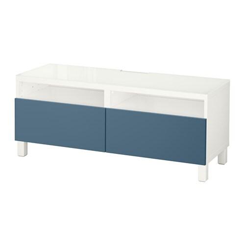 best tv bank mit schubladen wei valviken dunkelblau schubladenschiene drucksystem ikea. Black Bedroom Furniture Sets. Home Design Ideas