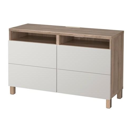 best tv bank mit schubladen grau las nussbaumnachb lappviken hellgrau schubladenschiene. Black Bedroom Furniture Sets. Home Design Ideas