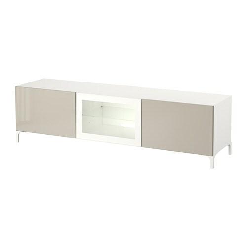 best tv bank mit schubladen und t r wei selsviken. Black Bedroom Furniture Sets. Home Design Ideas