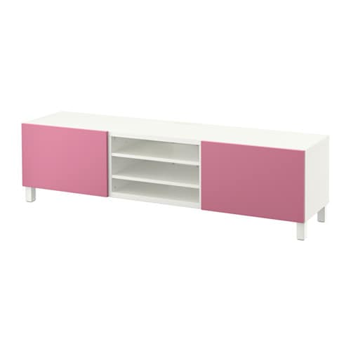 best tv bank mit schubladen wei lappviken rosa schubladenschiene sanft schlie end ikea. Black Bedroom Furniture Sets. Home Design Ideas