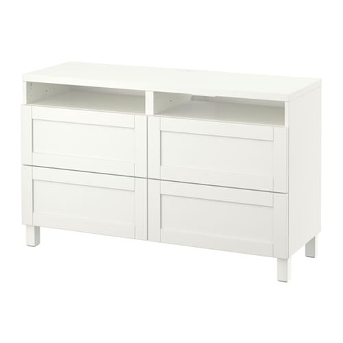 best tv bank mit schubladen hanviken wei schubladenschiene drucksystem ikea. Black Bedroom Furniture Sets. Home Design Ideas