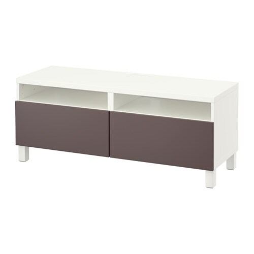 best tv bank mit schubladen wei valviken dunkelbraun schubladenschiene sanft schlie end ikea. Black Bedroom Furniture Sets. Home Design Ideas