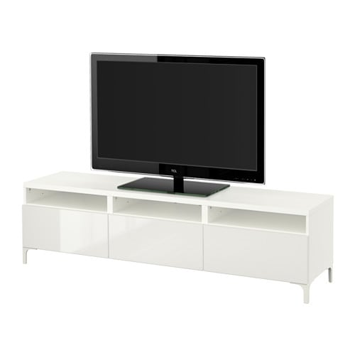 best tv bank mit schubladen wei selsviken hochglanz. Black Bedroom Furniture Sets. Home Design Ideas