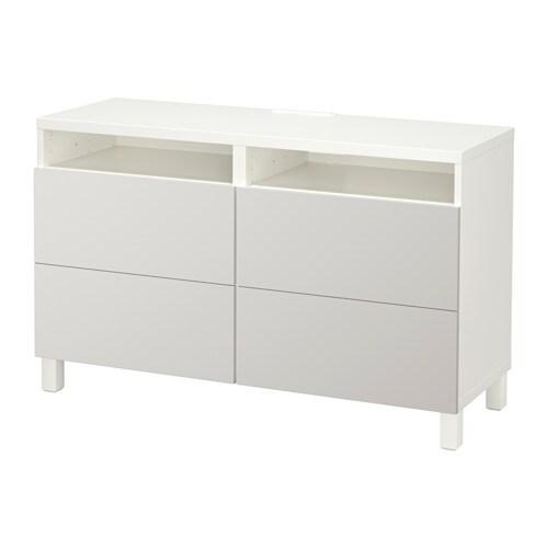 best tv bank mit schubladen wei lappviken hellgrau schubladenschiene drucksystem ikea. Black Bedroom Furniture Sets. Home Design Ideas
