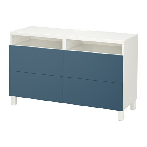 best tv bank mit schubladen wei valviken dunkelblau schubladenschiene drucksystem ikea. Black Bedroom Furniture Sets. Home Design Ideas
