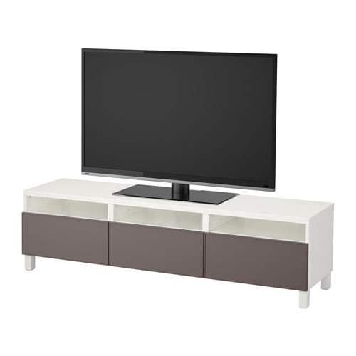 best tv bank mit schubladen wei grundsviken dunkelgrau schubladenschiene sanft schlie end. Black Bedroom Furniture Sets. Home Design Ideas