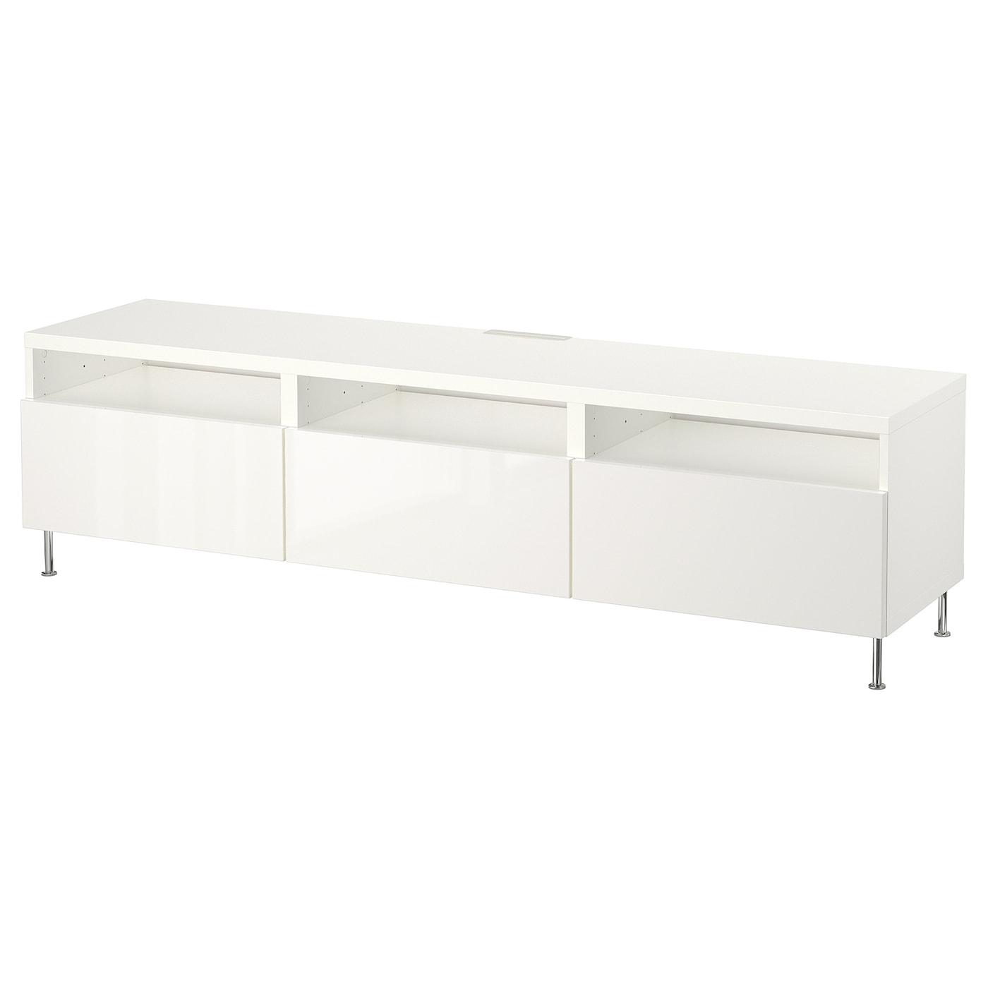 BESTÅ | Wohnzimmer > TV-HiFi-Möbel > TV-Lowboards | Weiß | Papier - Abs | IKEA