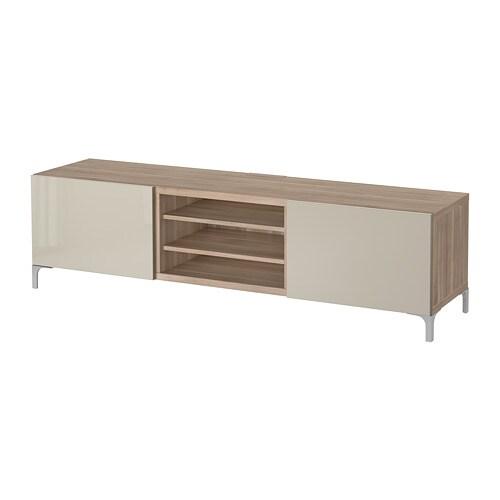 best tv bank mit schubladen grau las nussbaumnachb selsviken hochglanz beige. Black Bedroom Furniture Sets. Home Design Ideas
