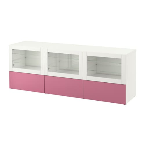best tv bank mit t ren und schubladen lappviken rosa sindvik klarglas wei schubladenschiene. Black Bedroom Furniture Sets. Home Design Ideas
