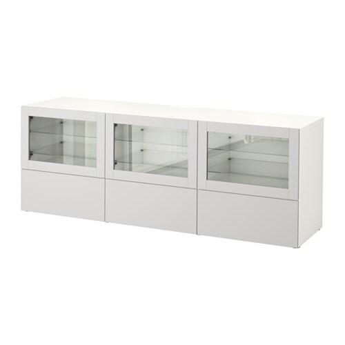 best tv bank mit t ren und schubladen wei lappviken hellgrau klarglas schubladenschiene. Black Bedroom Furniture Sets. Home Design Ideas