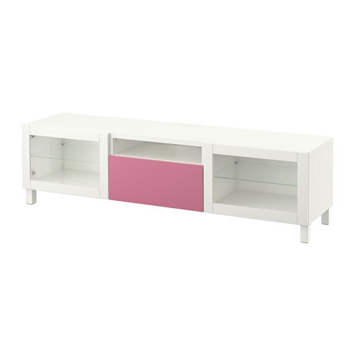 best tv bank lappviken rosa sindvik klarglas wei schubladenschiene drucksystem ikea. Black Bedroom Furniture Sets. Home Design Ideas