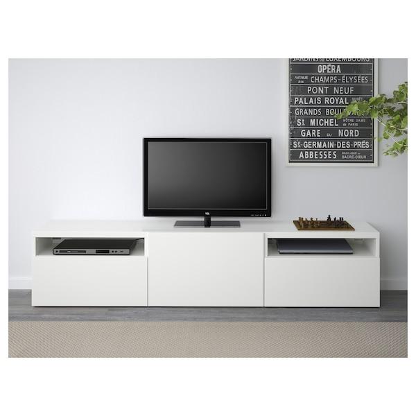 BESTÅ TV-Bank, weiß/Lappviken weiß, 180x42x39 cm