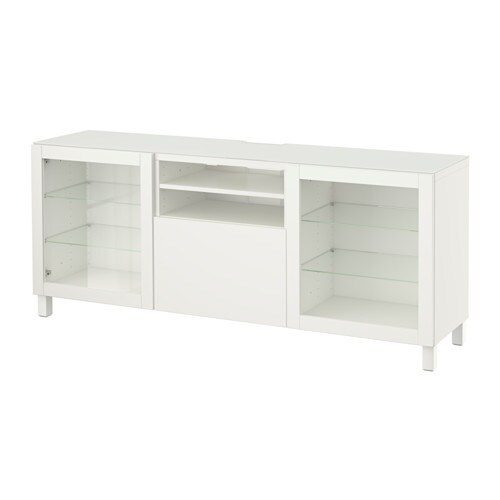 best tv bank lappviken sindvik klarglas wei schubladenschiene drucksystem ikea. Black Bedroom Furniture Sets. Home Design Ideas