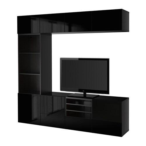 Ikea Kleiderschrank Schwarz Hochglanz ~  HochglanzRauchglas schwarz, Schubladenschiene, Drucksystem  IKEA