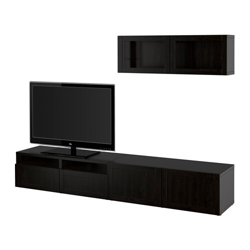 best tv komb mit vitrinent ren hanviken sindvik klarglas sbr schubladenschiene drucksystem. Black Bedroom Furniture Sets. Home Design Ideas