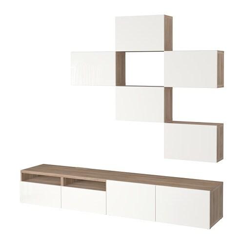 Bestå Tv Möbel Kombination Grau Las Nussbaumnachbselsviken