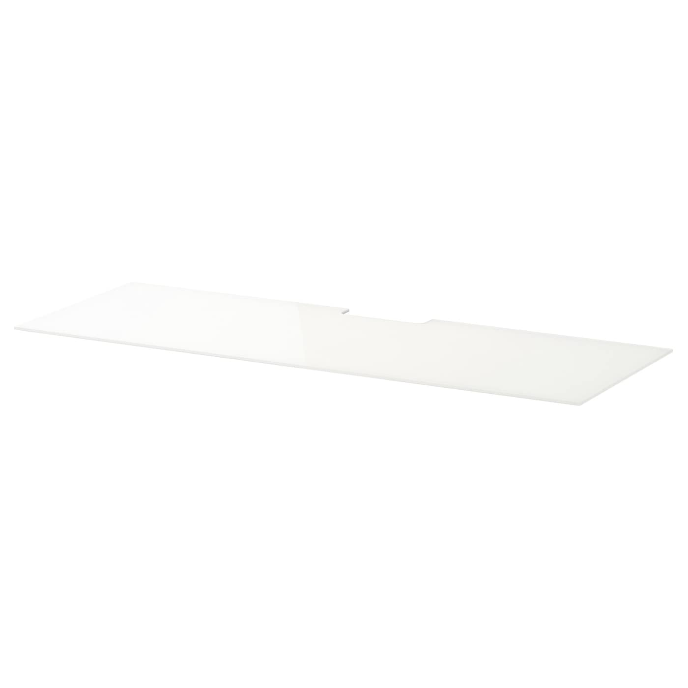 Ikea Malm Glasplatte bestå deckplatte glas weiß 120x40 cm ikea