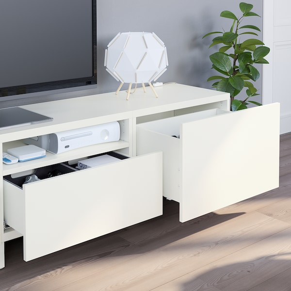 BESTÅ TV-Möbel, Kombination weiß/Lappviken/Stubbarp weiß 240 cm 42 cm 230 cm