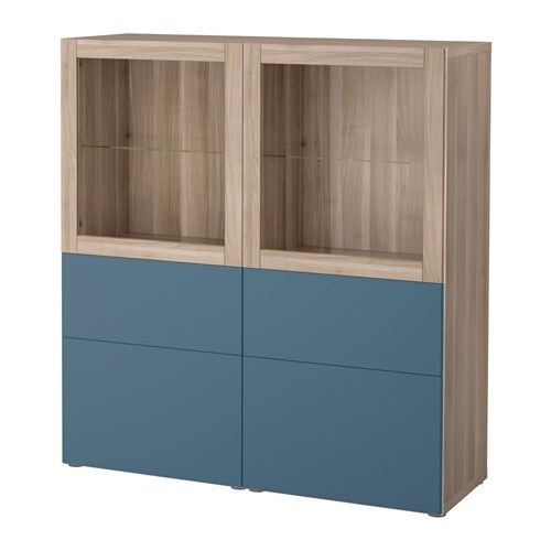 best vitrine grau las nussbaumnachb valviken dunkelblau klarglas schubladenschiene. Black Bedroom Furniture Sets. Home Design Ideas