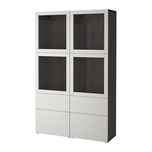 best vitrine schwarzbraun sindvik lappviken klarglas h 39 grau schubladenschiene drucksystem. Black Bedroom Furniture Sets. Home Design Ideas