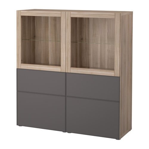 best vitrine grau las nussbaumnachb grundsviken dunkelgrau klarglas schubladenschiene. Black Bedroom Furniture Sets. Home Design Ideas