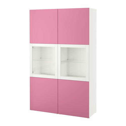 best vitrine lappviken rosa sindvik klarglas wei ikea. Black Bedroom Furniture Sets. Home Design Ideas