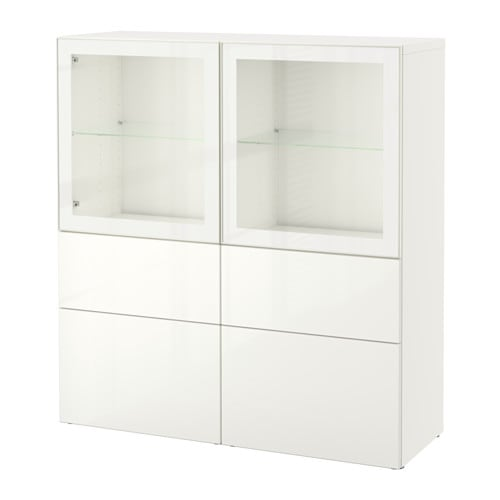 best vitrine wei selsviken hochglanz klarglas wei schubladenschiene drucksystem ikea. Black Bedroom Furniture Sets. Home Design Ideas