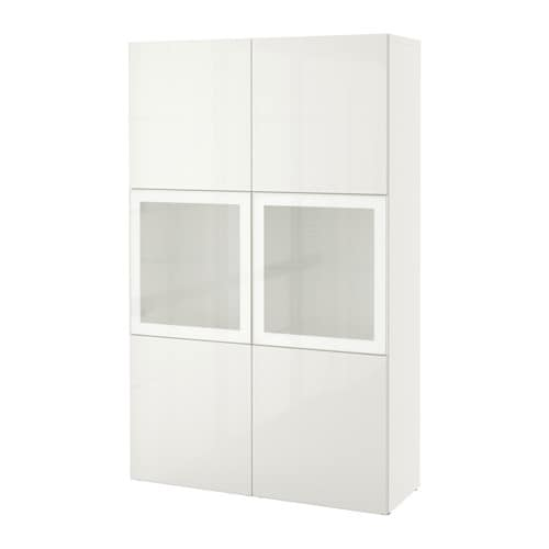 best vitrine wei selsviken hochglanz frostglas wei ikea. Black Bedroom Furniture Sets. Home Design Ideas
