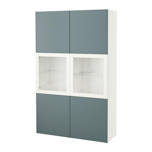 Ikea Besta Vitrine bestå vitrine weiß valviken klargl dbraun ikea
