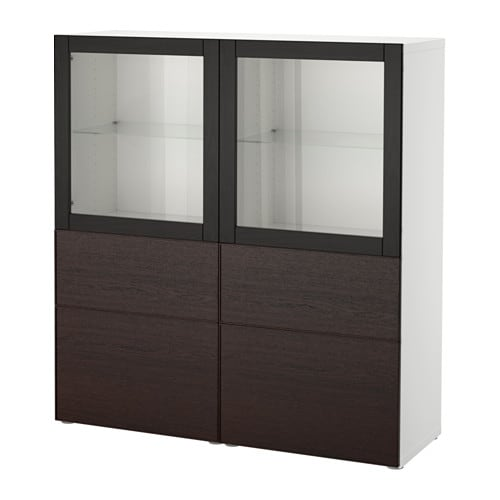 best vitrine wei inviken klarglas sbr schubladenschiene drucksystem ikea. Black Bedroom Furniture Sets. Home Design Ideas