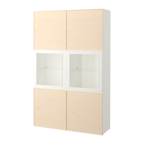 best vitrine wei inviken eschenfurnier ikea. Black Bedroom Furniture Sets. Home Design Ideas